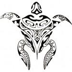 Modèle tatouage tortue