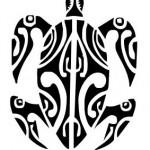 tatouage de tortue polynésien
