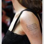 Angelina Jolie tattoo arm geographic coordinates