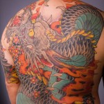 Tatouage dragon asiatique