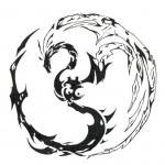 Tattoo dragon tribal yin yang