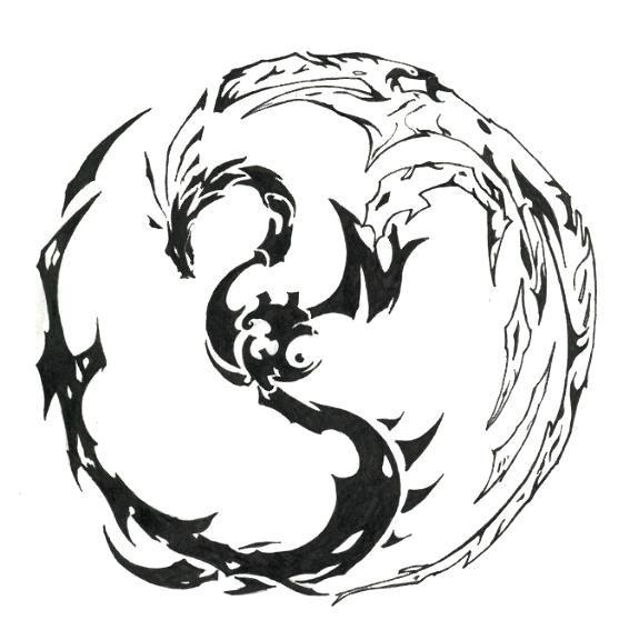 Dragon Tribal Tatouage tatouage de dragon, tattoo de dragon tribal, symbolique du dragon