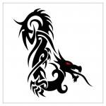 Tatouage dragon tribal