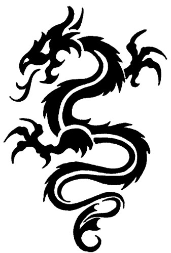 Dessin Dragon Tatouage tatouage de dragon, tattoo de dragon tribal, symbolique du dragon