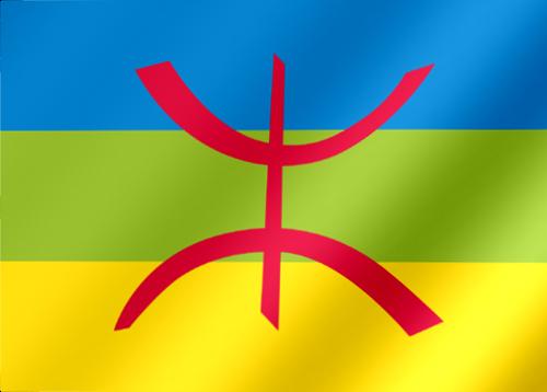 Drapeau Kabylie un motif de tatouage répandu chez les Kabyles