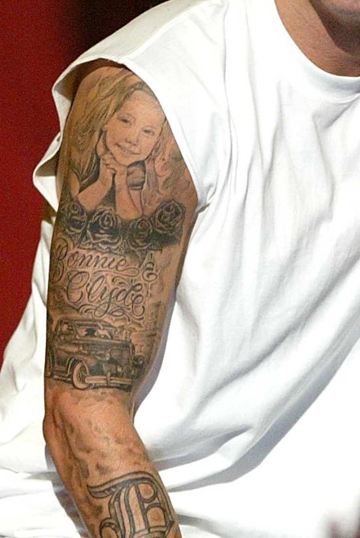 Quelques photos des tattoos d'Eminem :