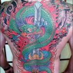 Tatouage de dragon dans le dos
