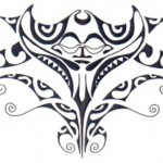 Modèle tattoo polynesien