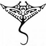 Modèle tatouage raie polynesien