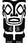 Modèle tatouage tiki polynesien