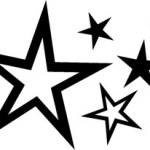 Modèle tatouage étoiles pour la nuque