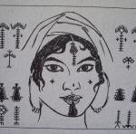 Motifs de tatouages de femme berbère