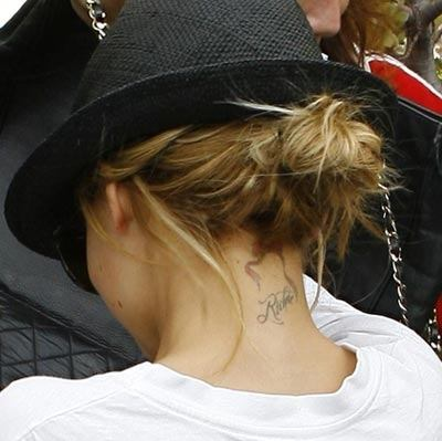A search for Nicole Richie's tattoos turns up hundreds of entries