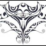 Raie manta modèle tatouage