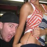Tatouage hanche de Rihanna avec bang bang