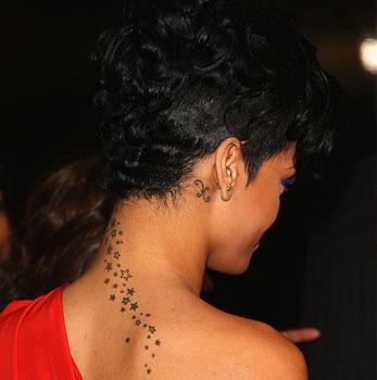 Tatouage Rihanna Tattoo Nuque De Rihanna Tattoos Hanche Cheville