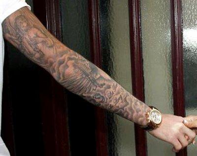 tatouage david beckham les tatouages de beckham tattoos. Black Bedroom Furniture Sets. Home Design Ideas