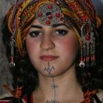 Tatouage femme Kabyle sur le visage