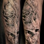 Tatouage morbid horror en Noir et gris par Nicko de metal-ink-tattoo