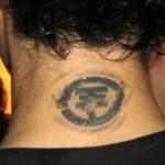 Tatouage nuque japonais pour homme