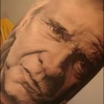 Tatouage réaliste d'un portrait par manu de chalon-sur-saone
