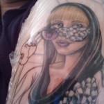 Tatouage d'un fan de Lady Gaga