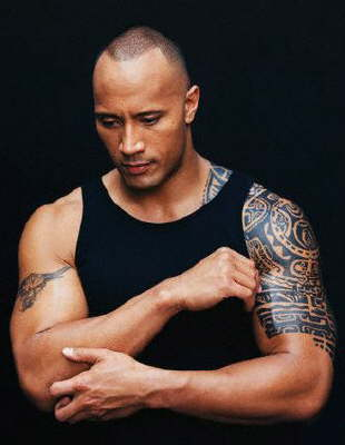 maivia the rock tatouage polynésien the rock manchette tatouage samoa