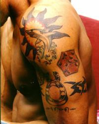 Tatouage dennis rodman tatouage basketteur nba tous les for La lakers tattoo