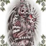 Modèle tatouage old school flash