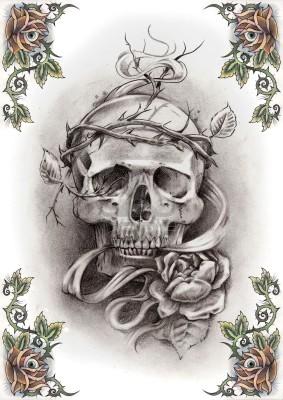... tatouage tetes de mort motif tatouage tete de mort 9 tattoo tatouage