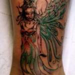 Modèle de tatouage fée sur la cheville