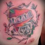 Modèle tatouage de coeur old school