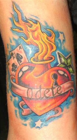 Tatouage Coeur Old School Modele De Tatouage De Coeur Tattoos De