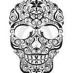 Modèle tatouage tête de mort tribale