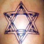 Modèle tatouage étoile juive