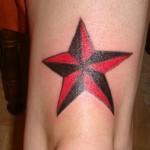 Modèle tatouage étoile de marin