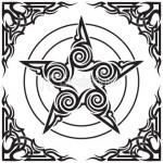 Modèle tatouage étoile tribale