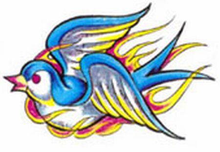 Modele Tatouage Hirondelle Symbolique De L Hirondelle Tatouage Old