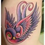 Modèle tatouage hirondelle