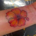 Modèle tatouage poignet de fleur d'hibiscus