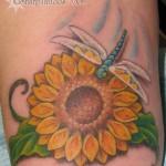 Modèle tatouage poignet de fleur de tournesol