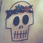 Modèle tatouage tête de mort new school