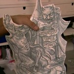Détail du tatouage de Prison Break