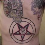 Modèle tatouage pentagramme sataniste