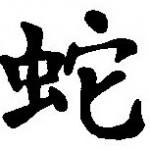 Symbole astrologique chinois du serpent
