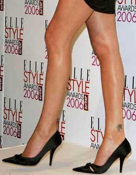 Tatouage de Charlize Theron sur la cheville