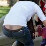 Tatouage en bas du dos de Jessica Alba