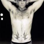 Tatouage hirondelles old school Robbie Williams