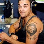 Tatouage lion Robbie Williams