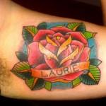 Modèle de tatouage de rose old school